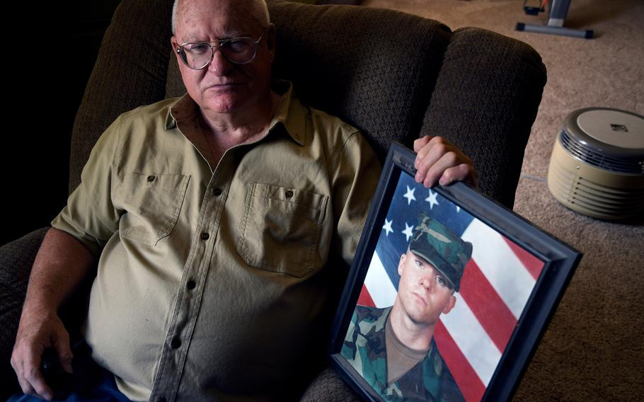 Donn Edmunds, a 25-year U.S. Army veteran who served in Vietnam, sits for a portrait in his living room in Cheyenne, Wyo., Wednesday, Sept. 1, 2021.