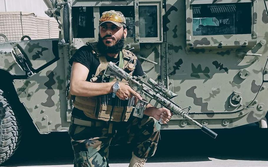 A Taliban fighter from the Badri 313 unit, which helped secure Kabul's airport during the chaotic U.S. airlift.