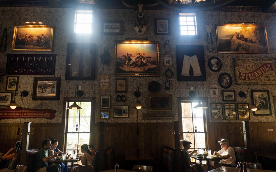 Saturday breakfast amid historic memorabilia and air conditioning at The Ranch at Death Valley.