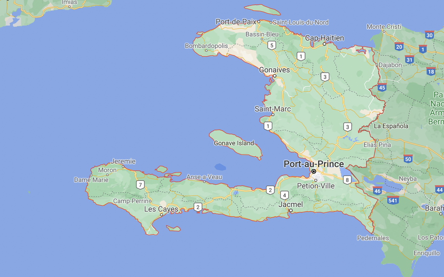 Screen capture of Haiti