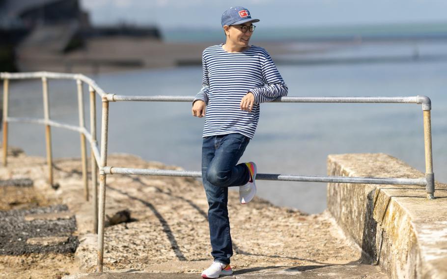Yuri Suzuki, partner at Pentagram Design Inc., on the seafront near his home in Margate, U.K., on Aug. 11, 2021.