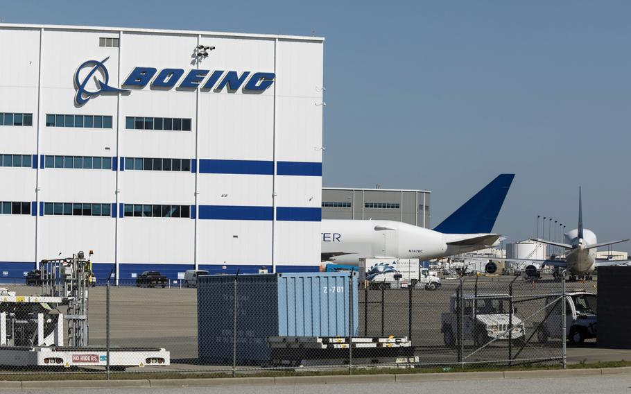 The Boeing manufacturing facility in North Charleston, S.C., on May 4, 2020.