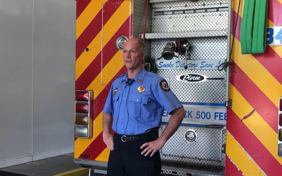 Burton Fire District Capt. Bobby Davidson.