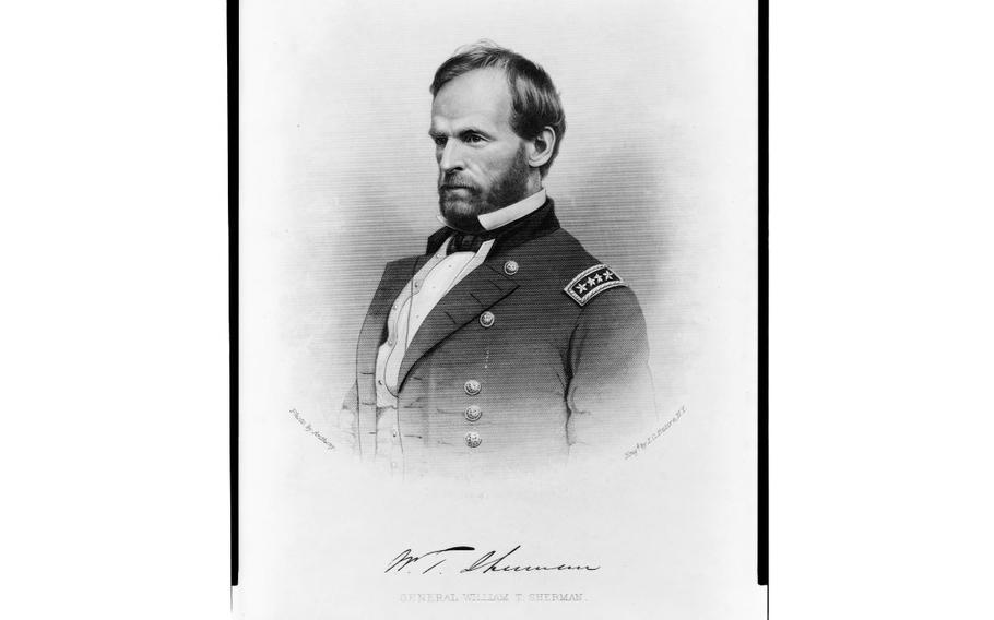 Gen. William Sherman, head-and-shoulders portrait, engraving by J.C. Buttre.