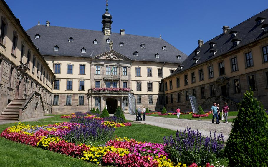 The Baroque Stadtschloss in Fulda, Germany, built in the early 18th century on the site of an earlier palace, is now the city hall and a museum.