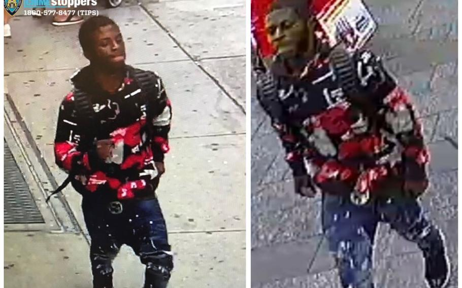 The New York Police Department is seeking the public's assistance in identifying the man in this image in connection with a shooting in Time Square.