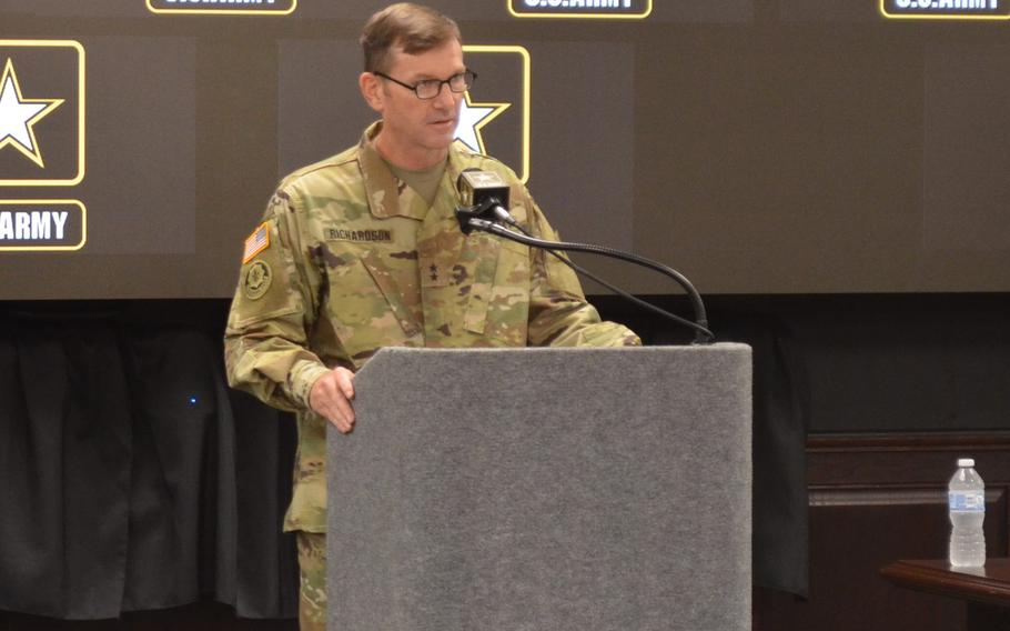 Maj. Gen. John B. Richardson will assume command Wednesday of the 1st Cavalry Division at Fort Hood, Texas. He previously served as the deputy commander of maneuver for III Corps and spearheaded the People First initiative that aims to rebuild trust between soldiers and leaders after several reports identified trust as an issue.