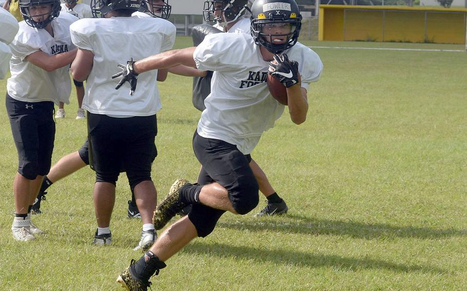Senior running back Trent Fowler is one of four players returning from Kadena's 2019 Far East championship team.
