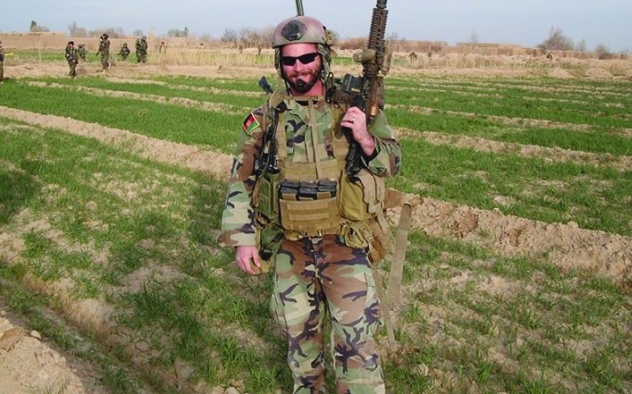 49p na Then-Army Capt. Mathew L. Golsteyn is shown in Afghanistan in 2010.  PHOTO RELEASED BY THE OFFICE OF REP. DUNCAN HUNTER