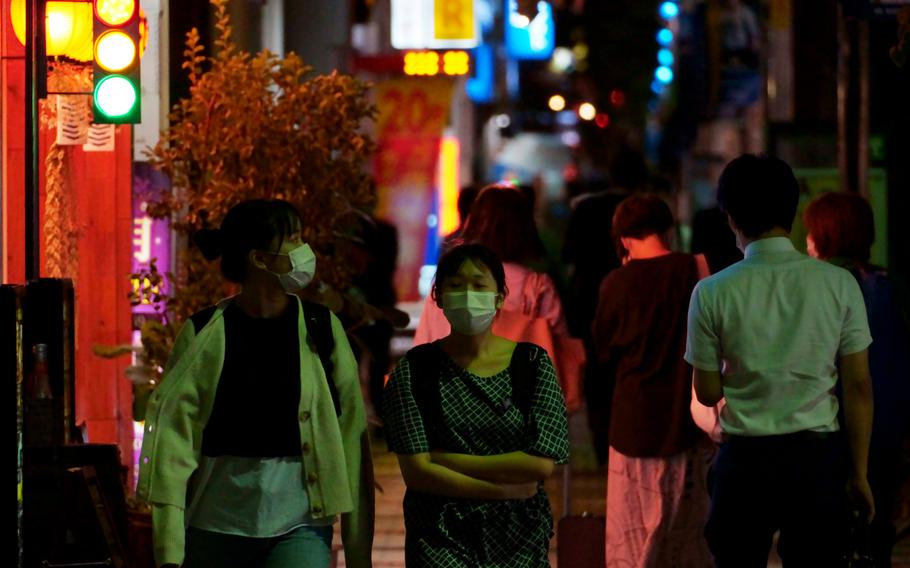 Throughout Japan, another 3,236 people tested positive for the coronavirus and 54 died on Wednesday, Sept. 22, 2021.