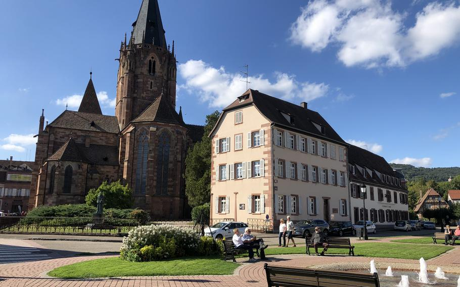 The church of Saints Peter and Paul in Wissembourg, France, is the second-largest church in Alsace.