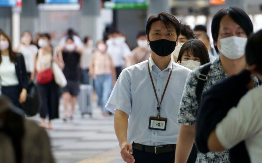 Another 2,909 people tested positive for the coronavirus in Tokyo on Tuesday, Aug. 31, 2021. That's 1,311 fewer cases than a week prior.