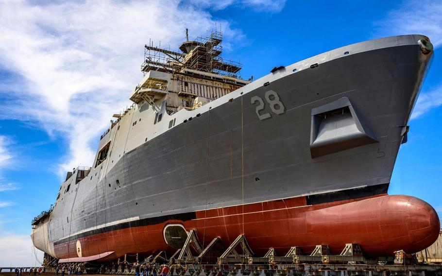The USS Fort Lauderdale is the 12th of the San Antonio class built at Ingalls Shipbuilding.