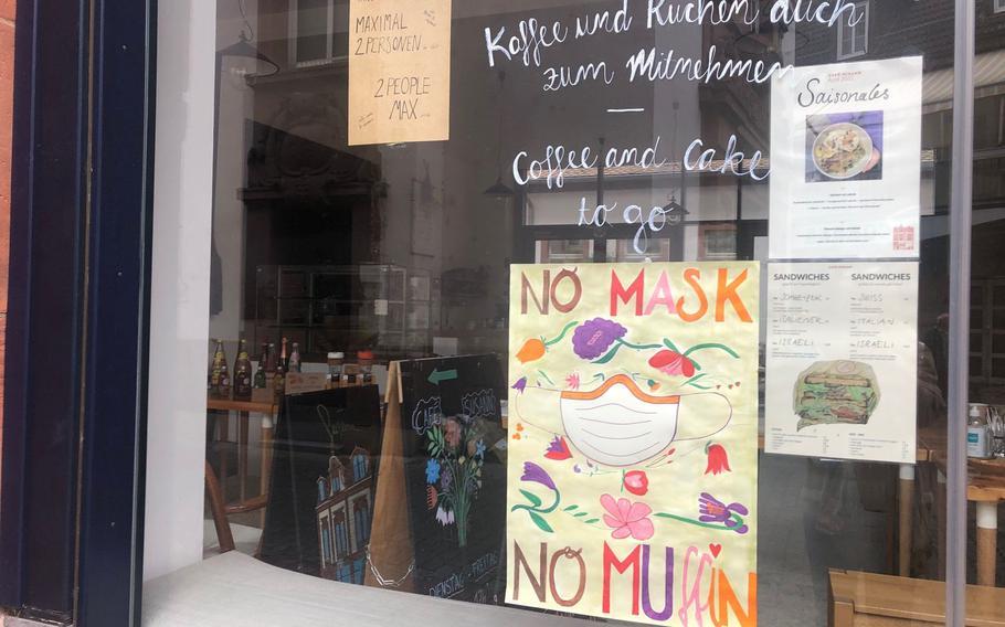 Cafe Susann in Kaiserslautern on Sunday, April 18, 2021.