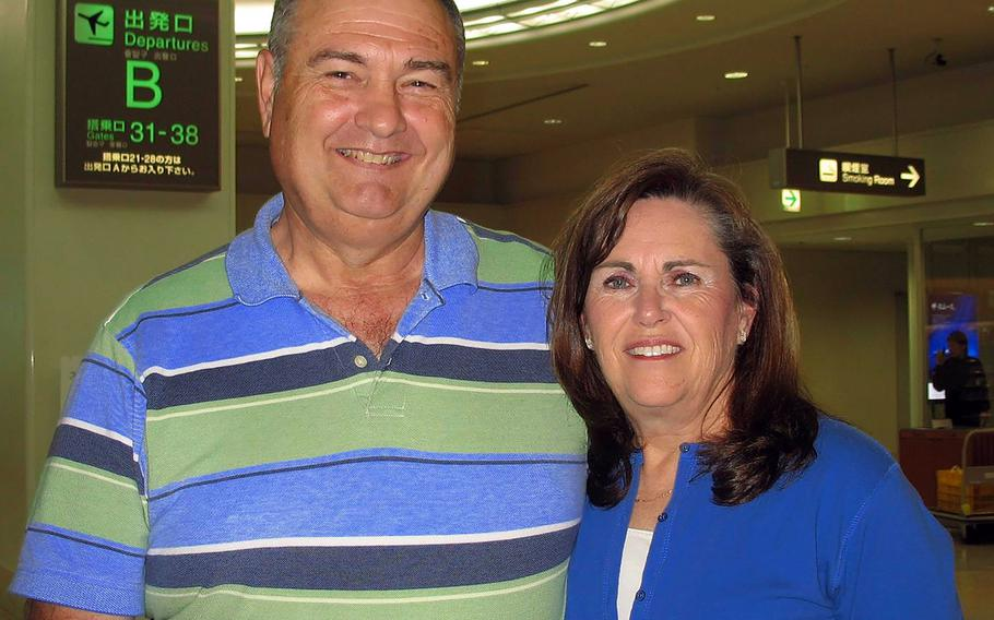 William Mierzejewski, posing here with his wife, Melene, spent nearly three decades as a teacher, coach and administrator for Department of Defense Education Activity schools in the Pacific.
