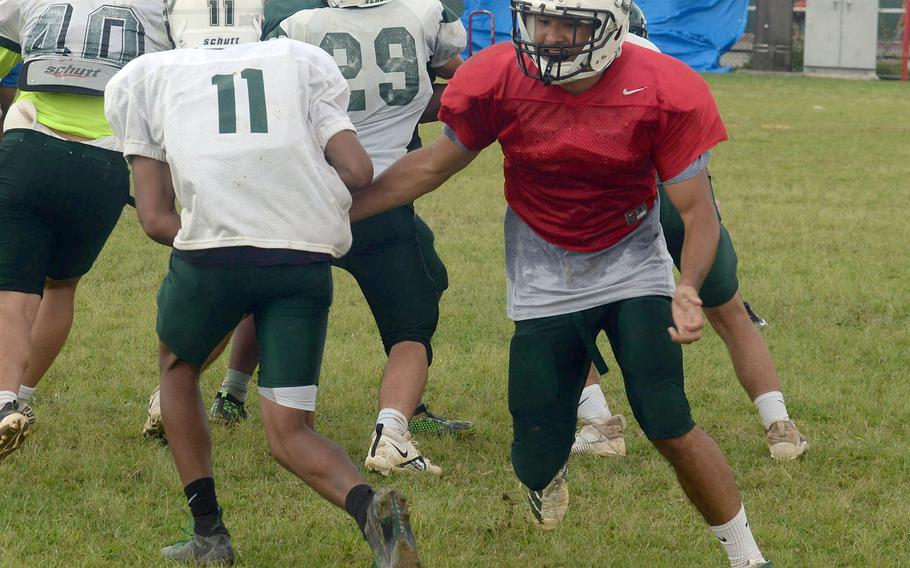 A.J. Militte, a junior, moves up from Kubasaki's 2019 junior varsity to take over at quarterback.