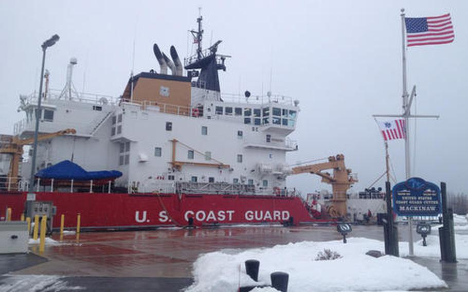 Currently, the Coast Guard's Great Lakes District commands only one heavy icebreaker, the USCGC Mackinaw, shown here at Millard D. Olds Memorial Moorings, the cutter's home-port of Cheboygan, Mich., in 2013.