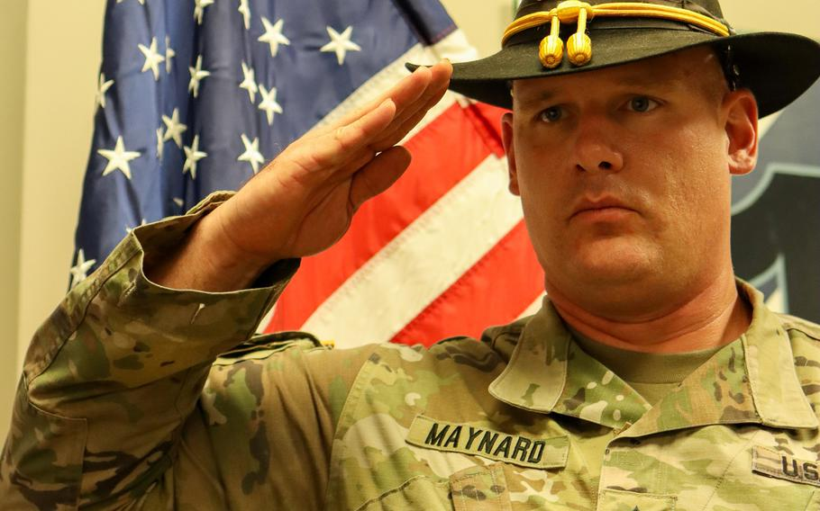 Army Sgt. 1st Class Daniel Maynard was one month into initial entrance training on Sept. 11, 2001. He has since served 20 years, including a combat tour in Iraq.
