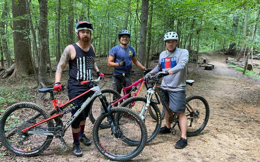 Since Sept. 11, U.S. Marine Corps veteran Josh Stears has been biking 13 miles a day to raise funds for Platoon 22, which seeks to prevent veteran suicide.