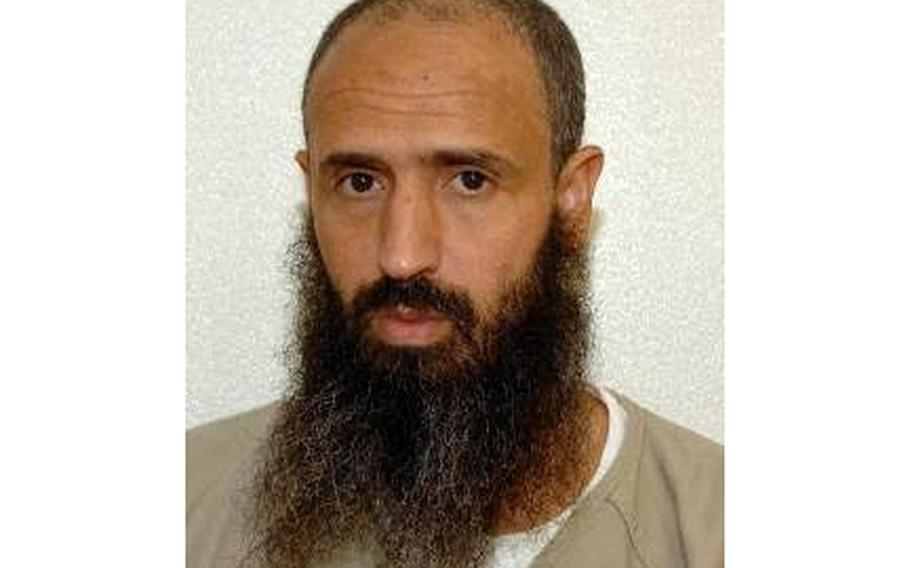 This undated photo released by lawyer Shelby Sullivan-Bennis on Dec. 11, 2017, shows his client, Abdullatif Nasser, at the Guantanamo Bay detention center in Guantanamo Bay, Cuba. The Biden administration on Monday, July 19, 2021, transferred the detainee out of the Guantánamo Bay detention facility for the first time, sending the Moroccan man back home years after he was recommended for discharge.