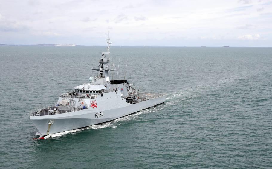 The Royal Navy offshore patrol vessel HMS Tamar, seen here, will be stationed somewhere in the Indo-Pacific region along with its sister ship, the HMS Spey, starting in August 2021.