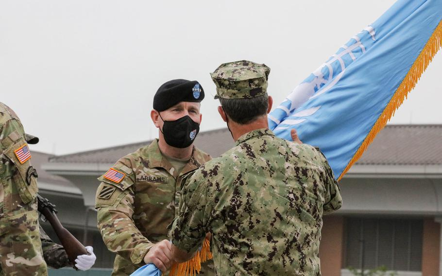 Gen. Robert Abrams led U.S. Forces Korea, United Nations Command and Combined Forces Command since November 2018. He relinquished command to Gen. Paul LaCamera on Friday, July 2, 2021.
