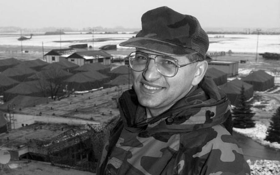 Taszar AB, Hungary, January, 1996: Staff Sgt. Orban, an ethnic Hungarian who grew up in Romania is delighted to serve in Operation Joint Endeavor in Taszar Hungary, using his language skills.