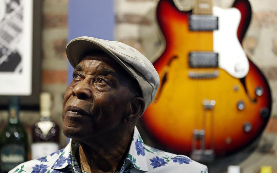 Buddy Guy poses for a portrait July 28 at his blues club Buddy Guy's Legends in Chicago.