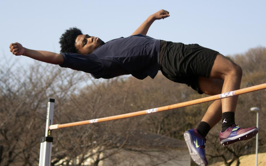 Junior jumper Kalil Irby, Zama's male Athlete of the Year.