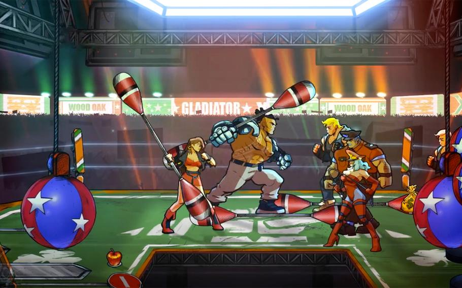 Mr. X Nightmare downloadable content upgrade for Streets of Rage 4 allows players to earn special power-up items that give their characters enhanced special skills and introduces three new fighters for players to choose from. The DLC can be added for an additional $8.