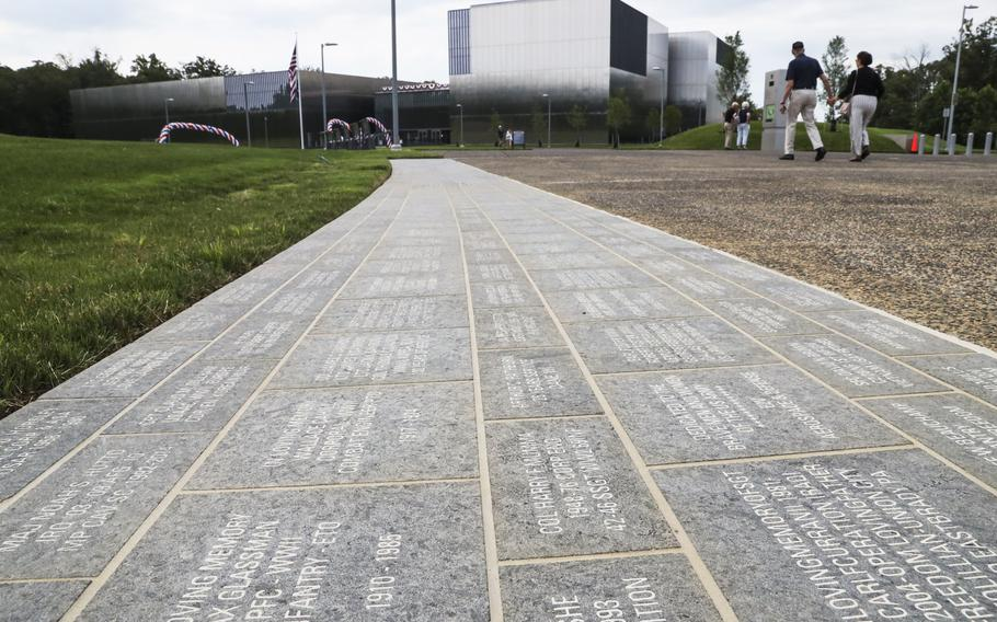 The Path of Remembrance, featuring about 8,000 commemorative bricks, at the National Museum of the United States Army on its reopening day, June 14, 2021.