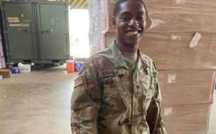 Spc. Bernard Creque, 25, is the third National Guardsman to die during a deployment in recent months.