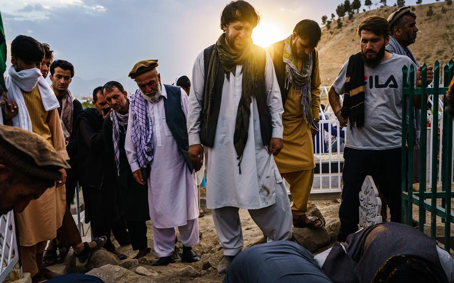Ajmal Ahmadi grieves for his family, all 10 civilians who were killed in a U.S. drone strike in Kabul, Afghanistan.