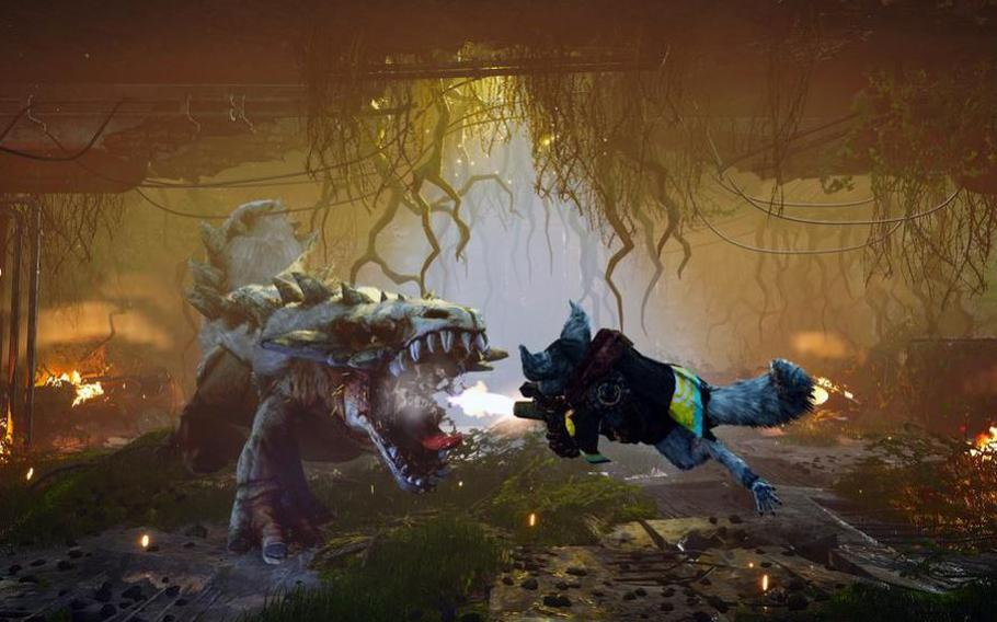 Biomutant is a third-person, open-world game in which the player controls a mammalian warrior in a world filled with mutated animals.