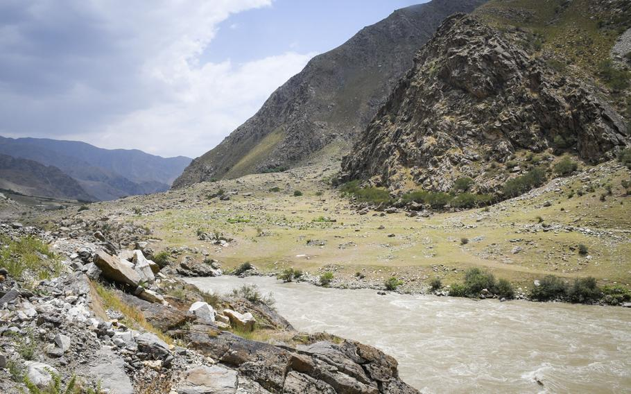 A swollen river roars through a mountain valley in remote Badakhshan province July 14, 2019. The provincial capital of Faizabad, once a stronghold against the Taliban, fell to the militant group, local officials said Aug. 11, 2021.