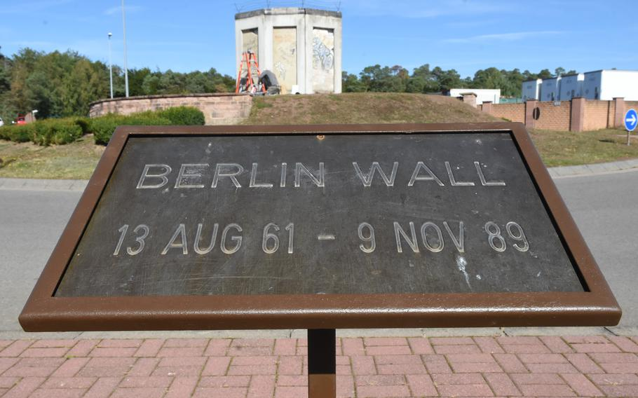 A new memorial to the Berlin Wall was recently erected near the Kaiserslautern Military Community Center at Ramstein Air Base, Germany. On Sunday, the country will celebrate reunification, marking 31 years since the end of the Cold War split of Germany.