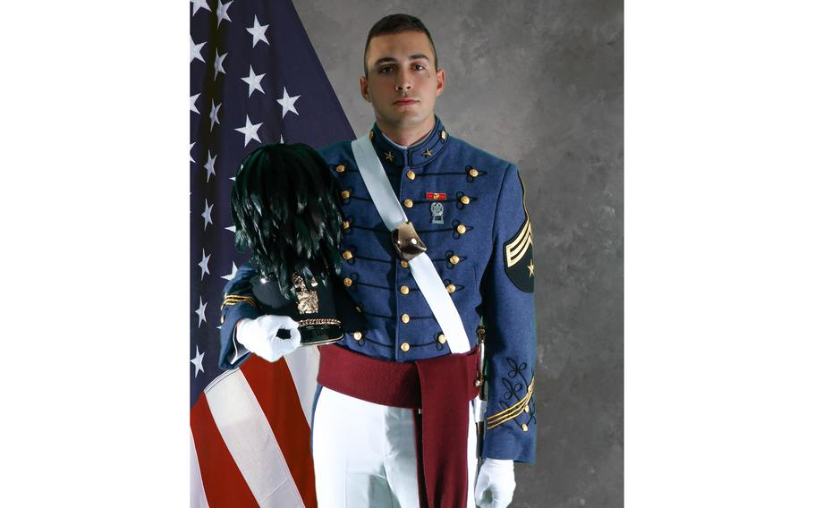 Marine 2nd Lt. Samuel Poulin is pictured during his time as a cadet at The Citadel.