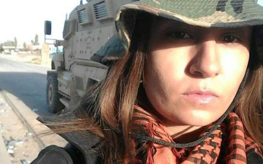 Zainab Olivo works in Iraq as an interpreter and translator for Stars and Stripes in 2017.