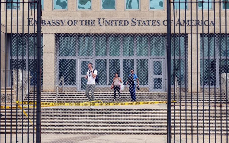 The U.S. Embassy in Cuba when it was being shut down amid a wave of mysterious medical symptoms in 2016.