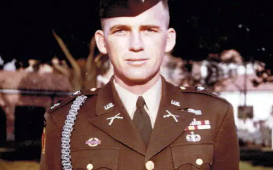 Retired Col. Ralph Puckett as an Army captain in 1952, a few months after he was wounded in a hellacious battle against Chinese soldiers in North Korea.