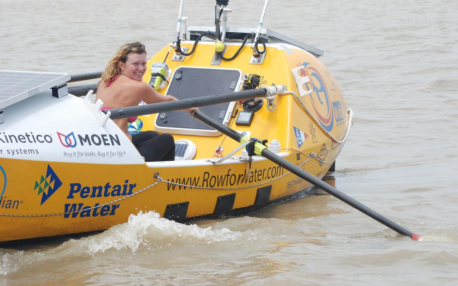 Spotz rowed alone across the Atlantic at 22, raising over $150,000 in the process, according to her website.