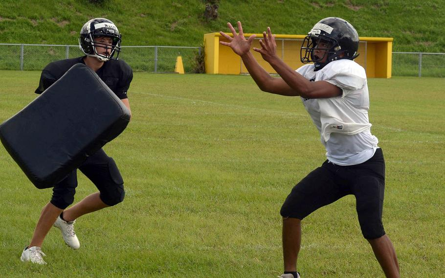 Receiver Javin Mariano is one of many new bodies on the roster of a Kadena team that coach Sergio Mendoza says is starting from scratch more than it's ever been.