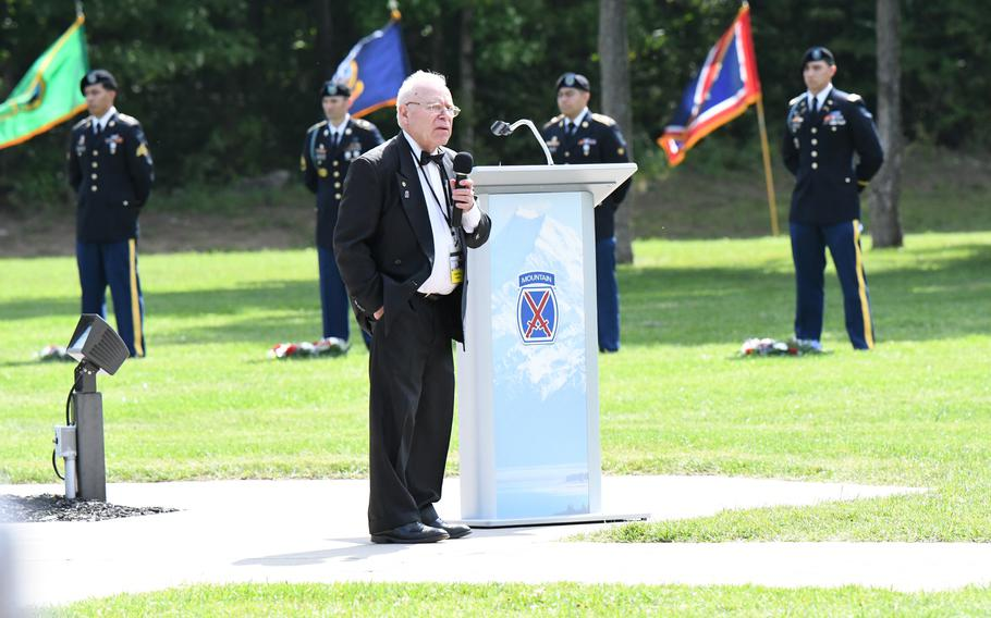 Paul Monti, father of Sgt. 1st Class Jared Monti, who posthumously was awarded the Medal of Honor in September 2009, served as guest speaker at the Annual Remembrance Ceremony on Aug. 31 at Memorial Park.