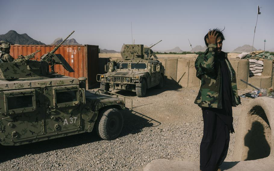 Fighting raged in the areas around Kandahar city for months before the city fell in mid-August.