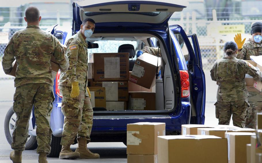 Oregon Army National Guard Soldiers have helped at various points during the coronavirus pandemic. These soldiers prepared boxes of personal protecting equipment and loaded them for local distribution. On Friday, Aug, 20, 2021, , about 260 soldiers were deployed to help at local hospitals in Southern Oregon.