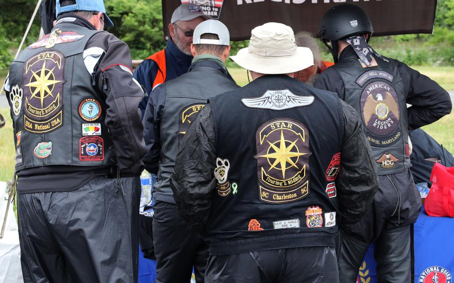 Participants in the Rolling to Remember ride await the signal to start at the RFK Stadium staging area, May 30, 2021 in Washington, D.C..