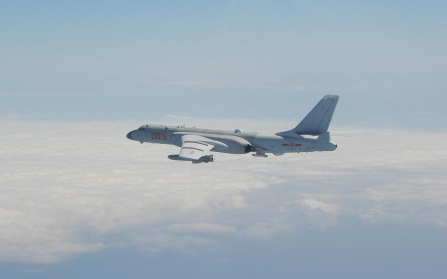 This Xian H-6 bomber was among the 149 Chinese warplanes that entered Taiwanese airspace over a four-day period ending Monday, Oct. 4, 2021.