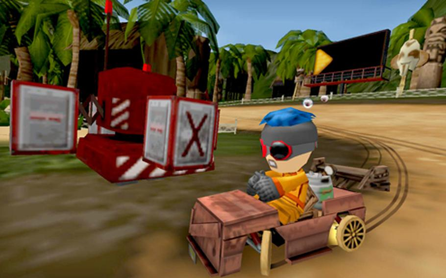 """""""ModNation Racers"""" compares favorably with a famous kart racing game that stars an Italian plumber."""