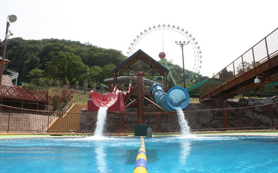 Water slides at Tokyo Summerland.