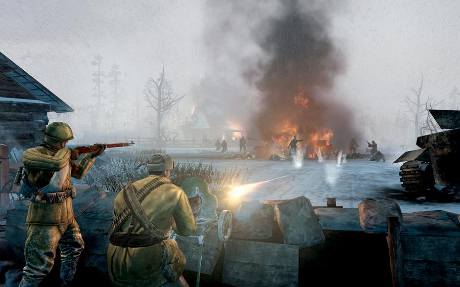 """Set in 1941, at the beginning of what became the bloodiest conflict of World War II, resulting in more than 14 million military casualties, """"Company of Heroes 2"""" focuses on the Soviet Red Army and their struggle to free Russia from Nazi invaders."""